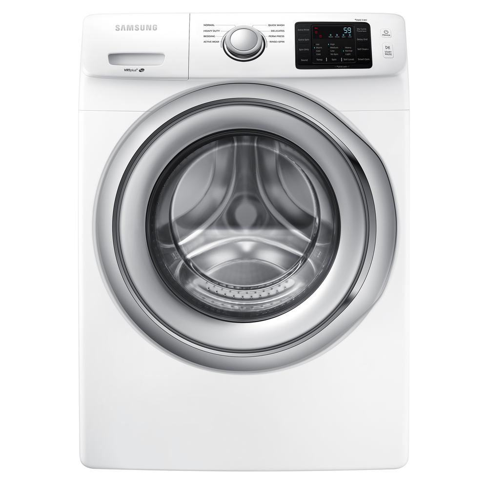 hight resolution of samsung 4 5 cu ft high efficiency front load washer in white energy star