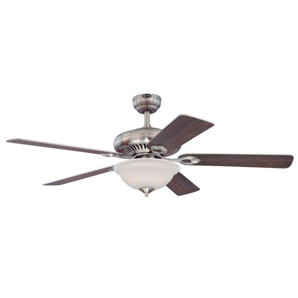 medium resolution of indoor brushed nickel finish ceiling fan