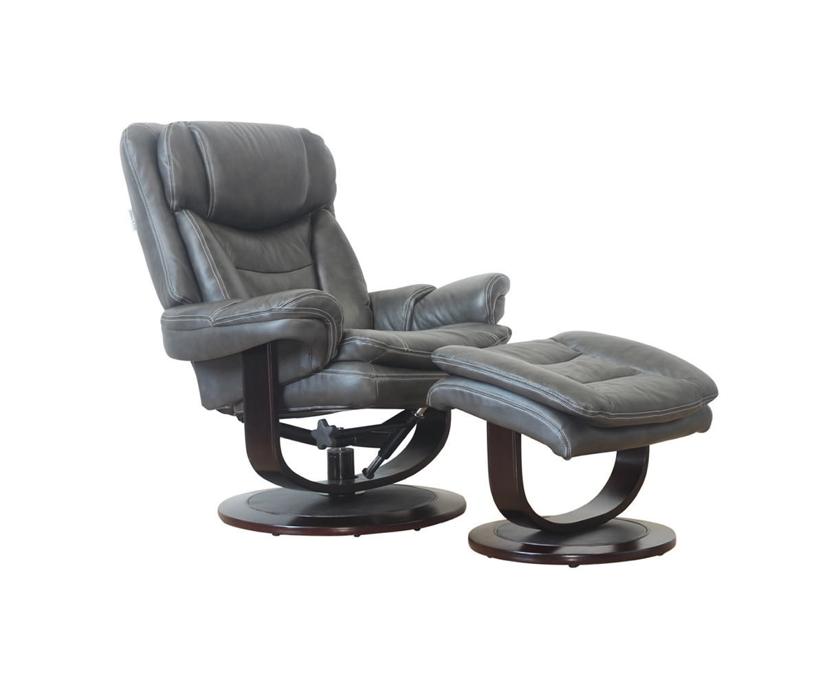 Pedestal Chair Barcalounger Roscoe Pedestal Recliner Chair And Ottoman Chelsea Graphite Leather Match