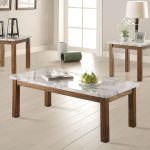 Coaster 701001 3pc Coffee Table Set Brown Faux Marble 701001 At Homelement Com