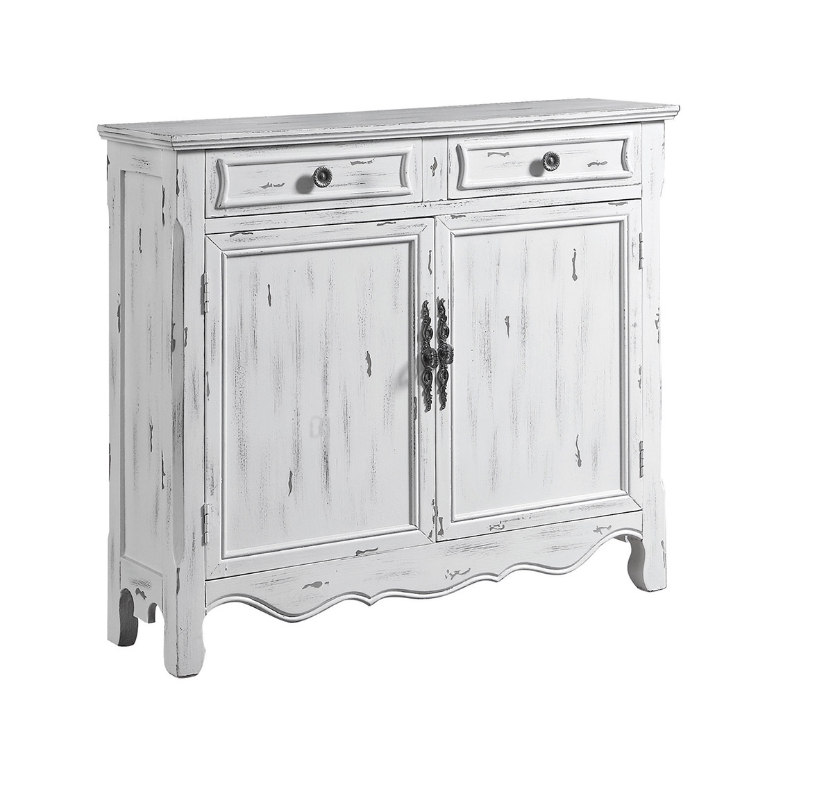 Coaster 950737 Accent Cabinet  Distressed White 950737 at
