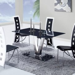 Dining Chairs With Stainless Steel Legs Target Grey Chair Global Furniture Usa 551 Set Black A Gf D551dt D803dc Bl Din At Homelement Com