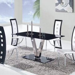 Dining Chairs With Stainless Steel Legs Office Chair Reviews Global Furniture Usa 551 Set Black B Gf D551dt D803dc Wh Din At Homelement Com