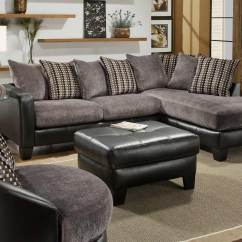 Suede Living Room Furniture Designer Pictures Of Rooms Global Usa 3600 Sectional Sofa Set Grey Fabric With Black Bicast Gf U3600 Sec At Homelement Com