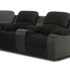 Klaussner Grand Power Reclining Sofa Dark Blue Pillows Loveseat With Console Vanti Black Kl O92773 Pwcrl At Homelement Com