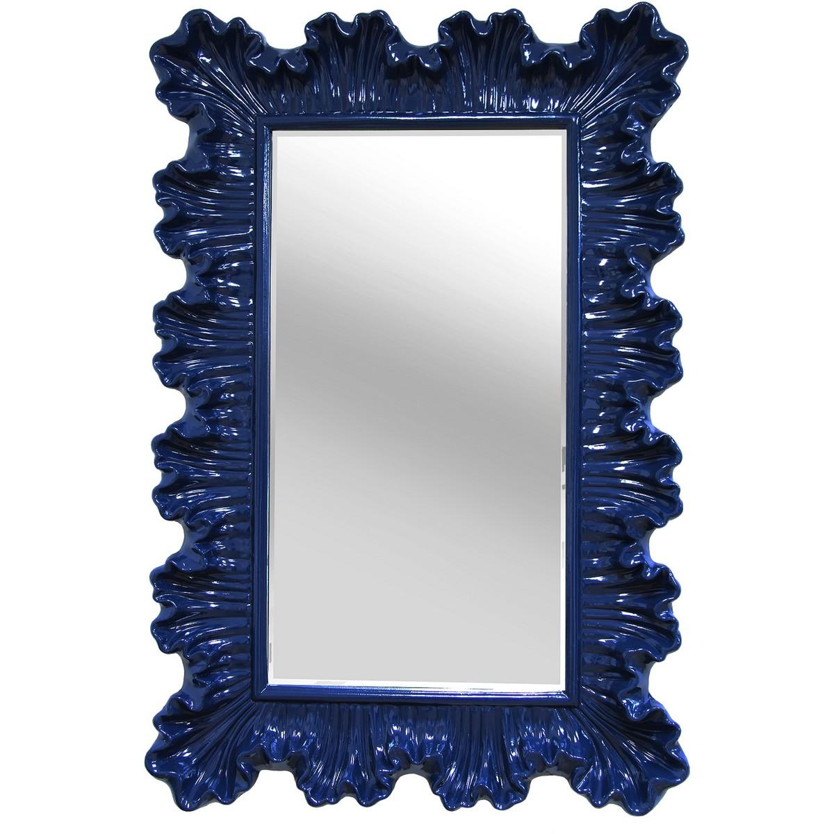 stratton home decor blue elegant ornate wall mirror navy blue