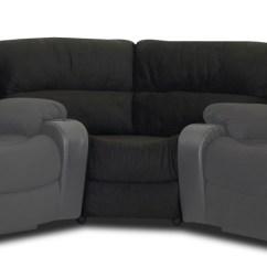 Klaussner Grand Power Reclining Sofa Seats For Toddlers Set Vanti Black Kl O92773 Sec 90 Degree Seating Wedge Microsuede Onyx