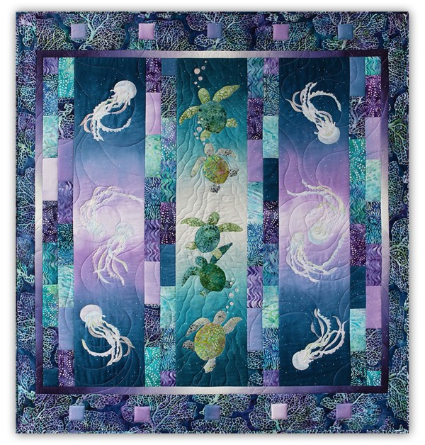 In Stock High Tide Laser Cut & Pre-fused Quilt Kit