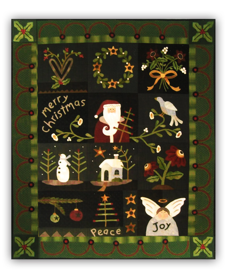 Last One Merry Christmas Quilt Flannel Row Of The Month