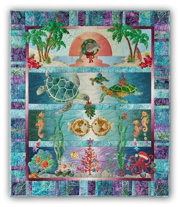 In Stock Tropical Noel Quilt Kit - Pre-fused & Laser