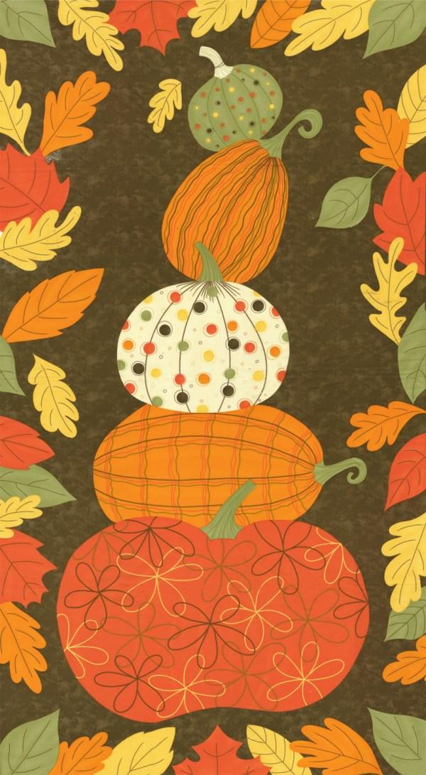 "Pumpkins Wild Halloween Quilting Fabric - 24"" Panel"