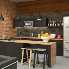 furniture for kitchen gadget stores design ideas inspiration pictures homify industrial style apartment by at the studio