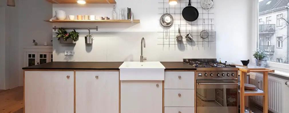 meuble cuisine avec rideau coulissant