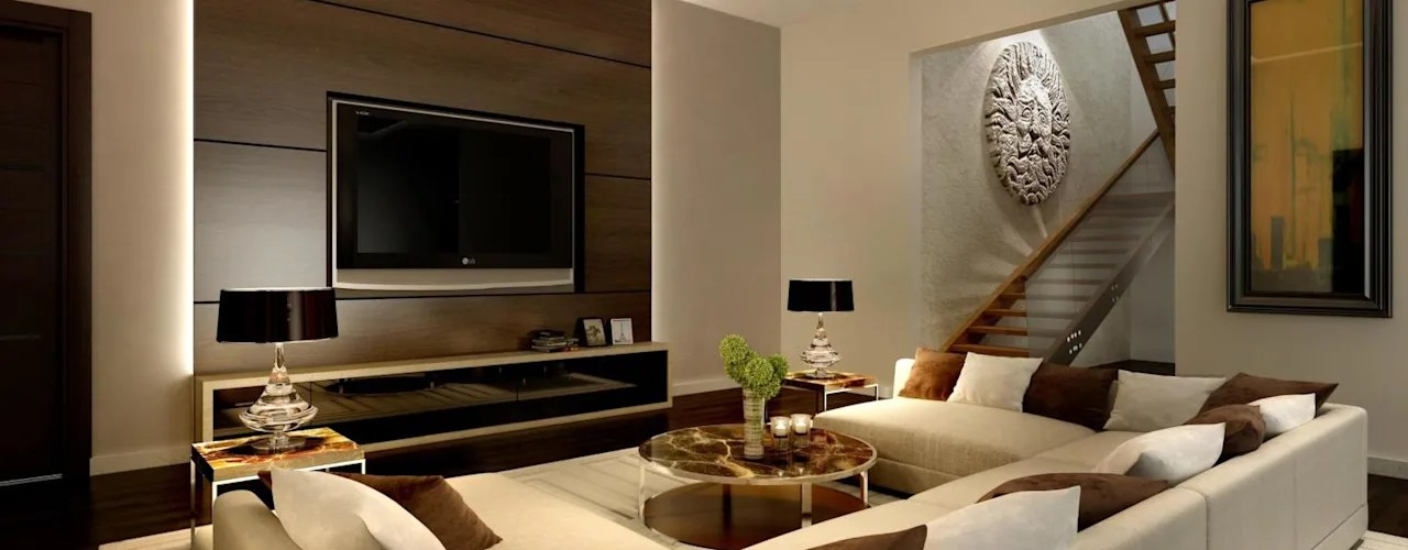 wall panels for living room ottomans 7 panel ideas mounting televisions in indian homes