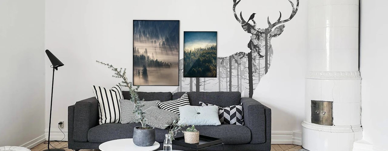 living room wall colours grey interior design ideas with fireplace working colour mysterious woods by pixers