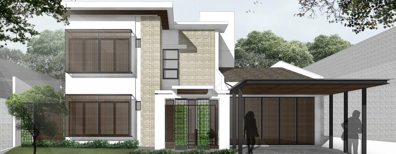 Desain Rumah Tropis Kontemporer Di Cikarang