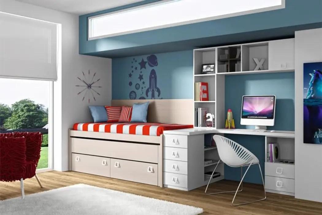 Habitacin de cama nido con somier y cajones habitaciones