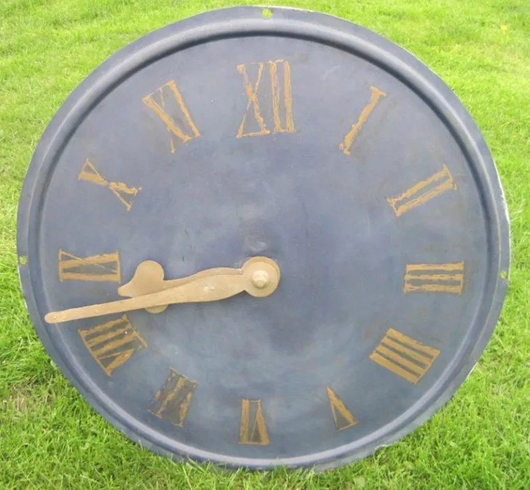 Copper Clock Face
