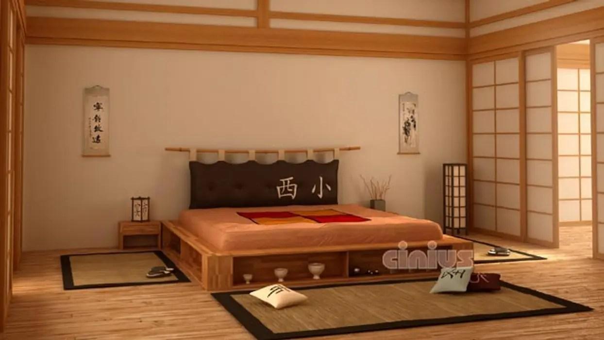 Letto stile giapponese cinius camera da letto in stile di