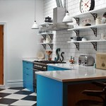 Industrial Kitchen With American Diner Feel Cozinhas Industriais Por Homify Industrial Madeira Macica Multi Colorido Homify