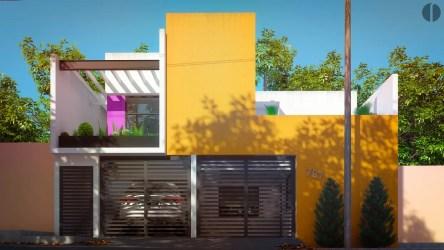 casa colores fachadas fachada pintar casas exterior moda homify mexicano arquitectura estilo minimalista pintura amarillo concreto minimalistas tu laboratorio patios