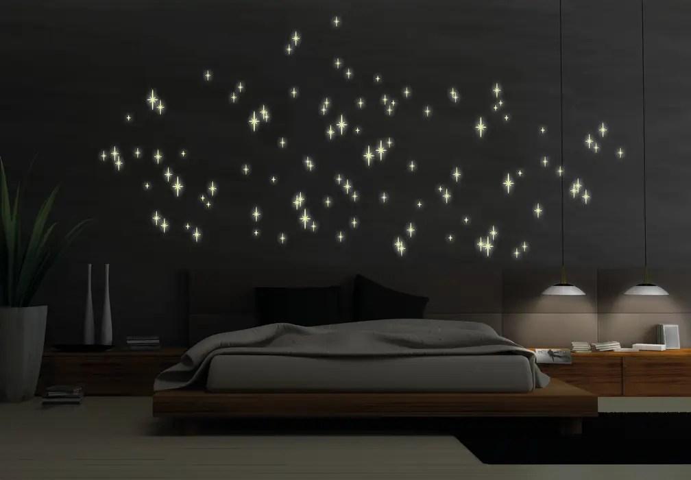 Leuchtsterne romantischer sternenhimmel schlafzimmer von