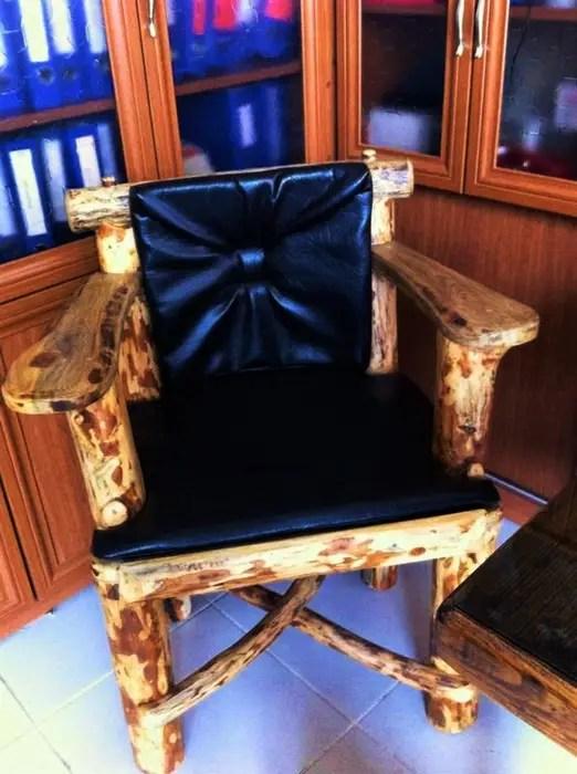Dik Citali Ahsap Rustik Sandalye Sandalye Rustik Damask