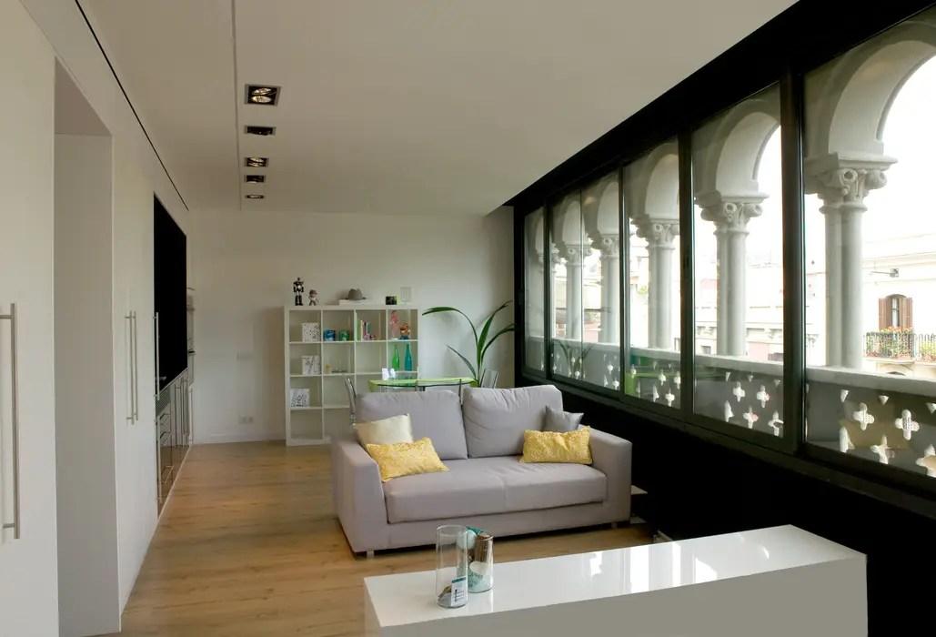 Sofa Comedor Excellent Acogedora Sala De Estar Blanca Con