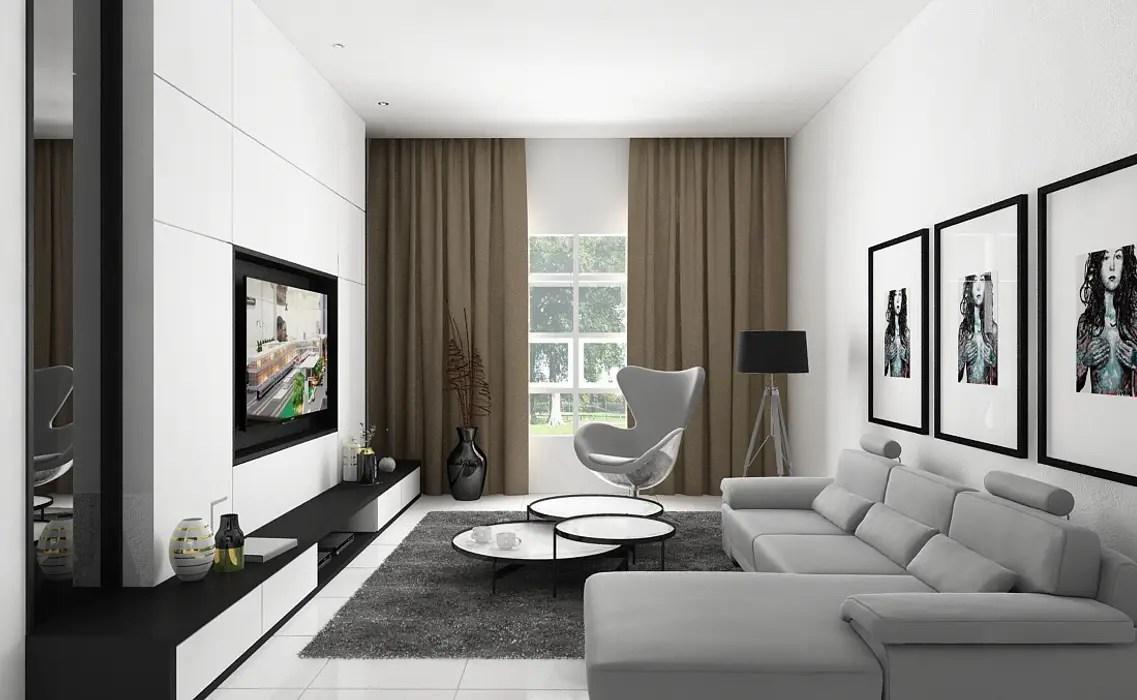D hiled house medan city ruang keluarga modern oleh