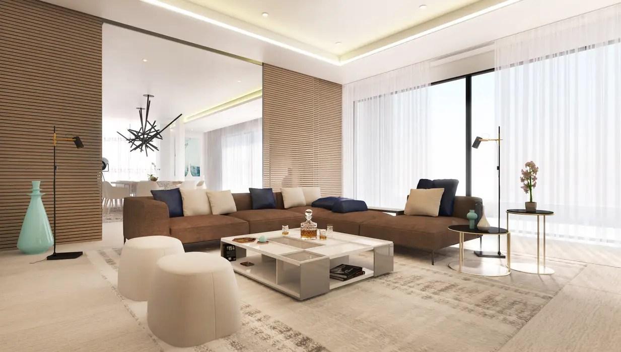 Main lounge living room by dessiner interior