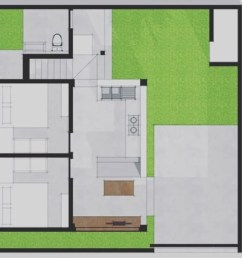 layout plan single family home by companion architecture studio [ 1339 x 700 Pixel ]