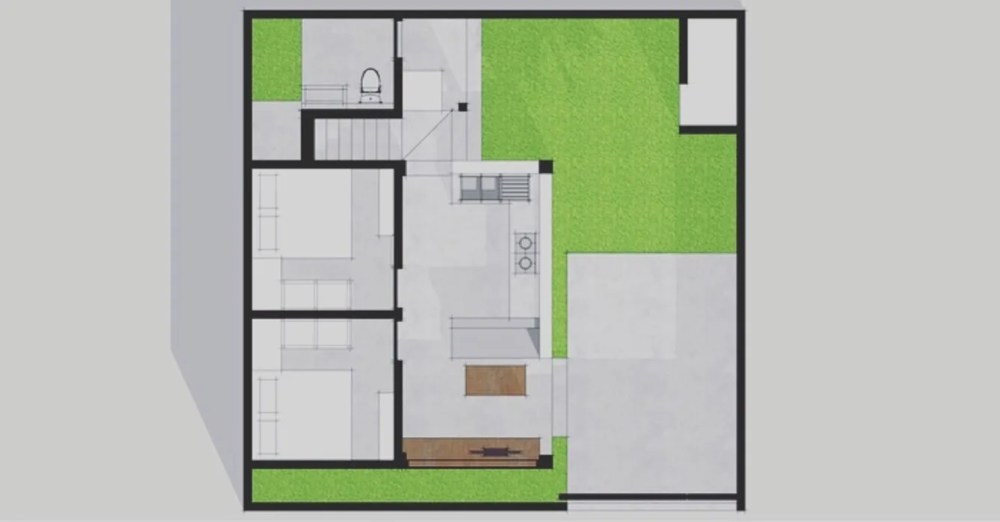 medium resolution of layout plan single family home by companion architecture studio