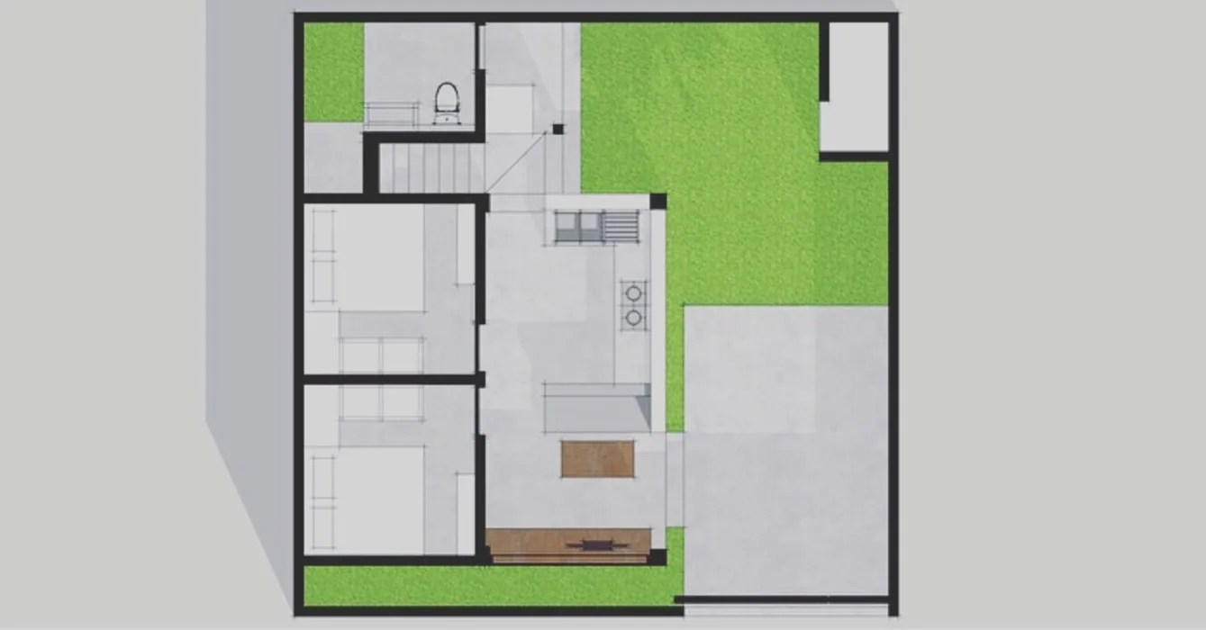 hight resolution of layout plan single family home by companion architecture studio