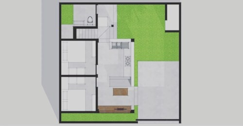 small resolution of layout plan single family home by companion architecture studio