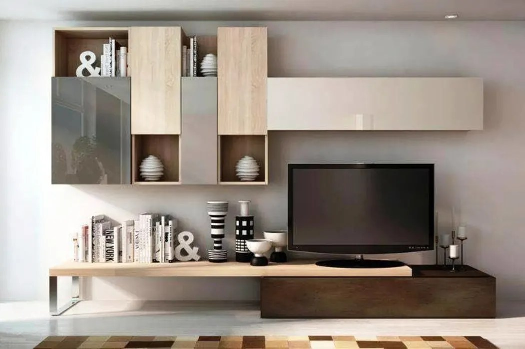 Modern Tv Cabinet Wall Unit- Living Room: Living Room By