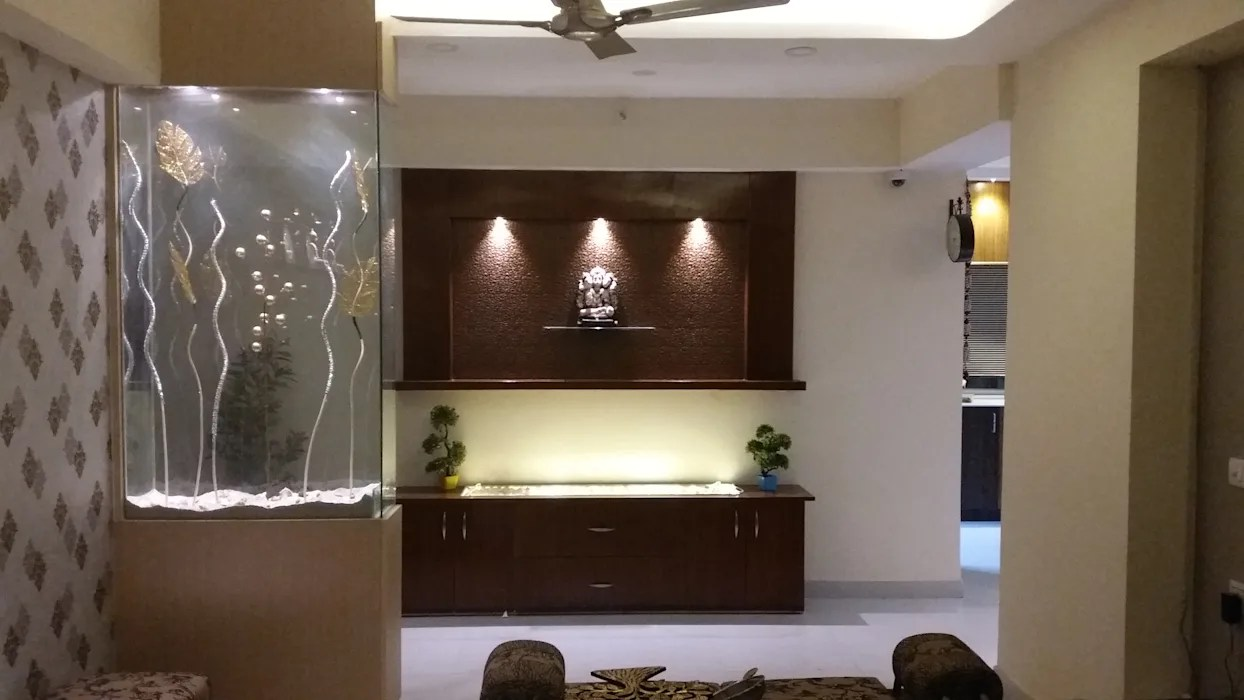 Glass Partition Console Modern Living Room By Design