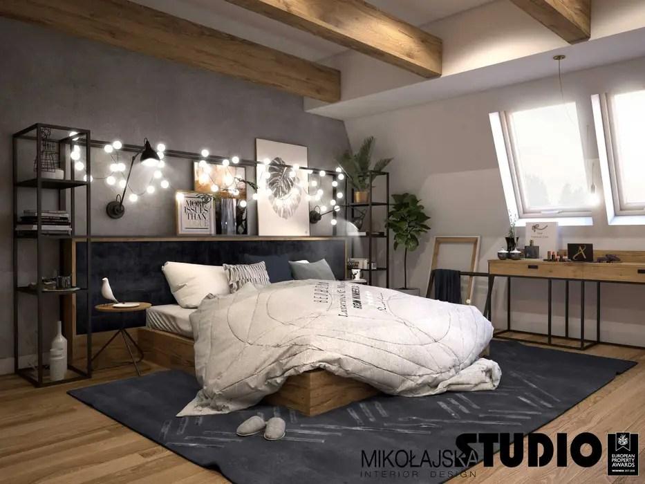9 lampade da soffitto in stile industriale casafacile. Mikolajskastudio Camera Da Letto In Stile Industriale Homify