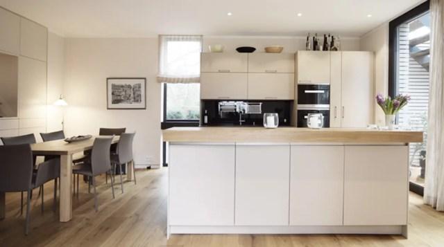 offene küche mit holzarbeitsplatte homify - 100 Bilder - remodeling your  kitchen should you get a dishwasher, holz arbeitsplatten machen die moderne  küche gemütlich, wohnideen kleine küche u form kleine küche u