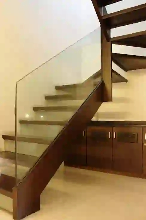 7 Modern Staircase Designs For Indian Homes Homify Homify   Stairs Design In Lobby   Entrance Lobby   Foyer   Architectural   Circle Elevator Design Home   White