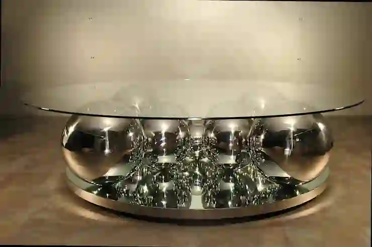 table basse boules inox homify