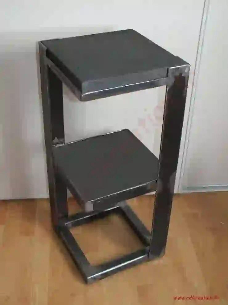 petit meuble design industriel acier