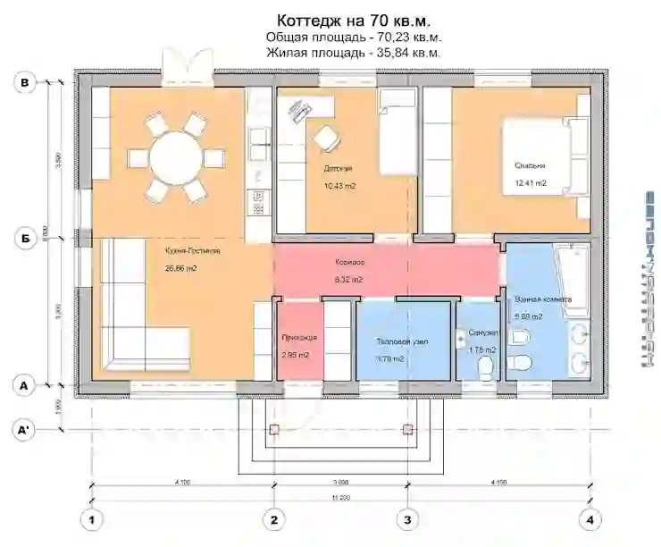 منزل 70 متر سيبهرك تصميمه