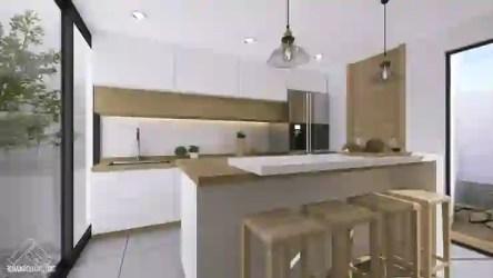 cocinas barra desayunadora cocina homify maravillosas madera minimalistas