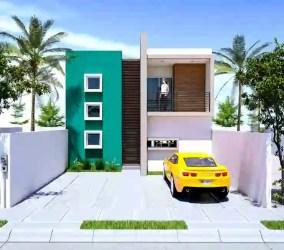 colores casa casas fachadas dos fachada homify pintar pisos moderno tendencias verde mx lf arquitectos tu concreto reforzado pequenas articulo