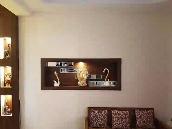 Living Room Wall Decoration by Designers Gang