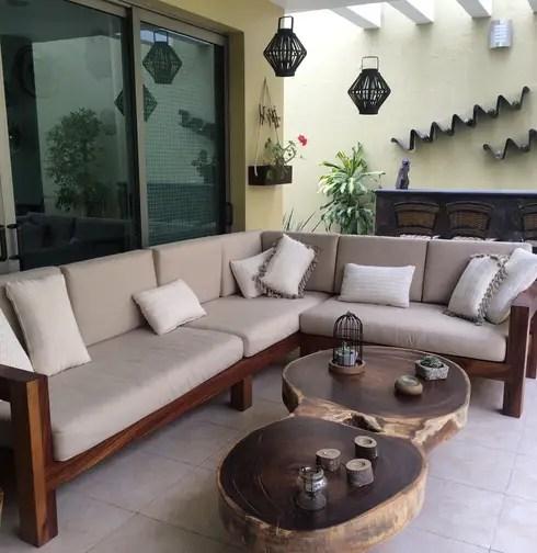 mueble de terraza ideal para exteriores de MADERA  homify