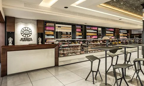 restaurant cum sweet shop by Square Designs  homify