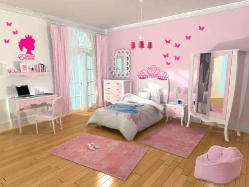 Dormitorio infantil nia Princesa de lo quiero en mi casa