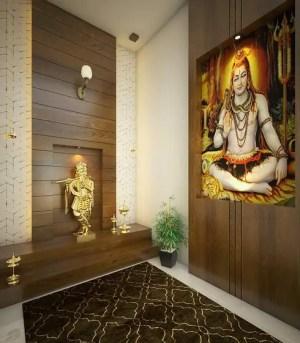 pooja temple designs ceiling wooden interior door homify wall mandir walls classic living decor plan calming mind space altar meditation