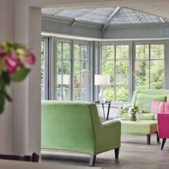 Veranda Living Rooms Wooden Blinds Room Conservatory With By Vale Garden Houses Homify
